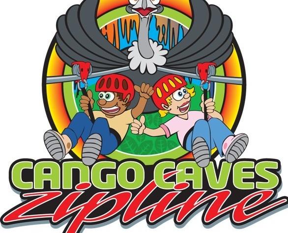 CANGO CAVES ZIPLINE LOGO VECTOR